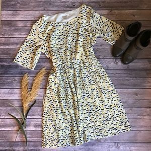Cremieux Horse Print Dress Size 12